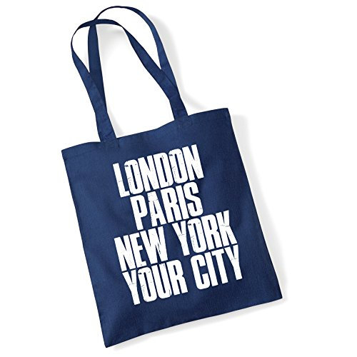 Tote Bags For Women Personalised London Paris New York Printed Cotton Shopper Bag Gifts Frnavy