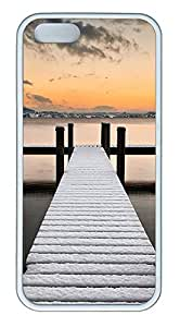 iPhone 5 5S Case Landscapes Snow Dock TPU Custom iPhone 5 5S Case Cover White