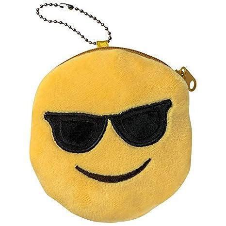 Emoti Emoticon Gafas de sol monedero de peluche: Amazon.es ...