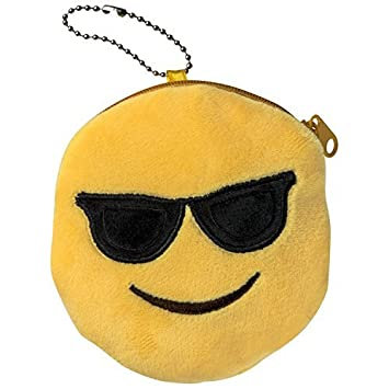 Emoti Emoticon Gafas de sol monedero de peluche: Amazon.es ...