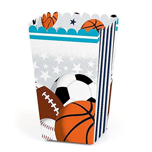 Go, Fight, Win - Sports - Baby Shower or Birthday Party Favor Popcorn Treat Boxes - Set of -