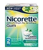 Nicorette Spearmint Burst with Chamomile Flavor Nicotine Stop Smoking OTC Gum 2 mg - 100 Count