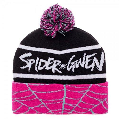 Bioworld Spiderman Spider Gwen Cuff Pom Beanie