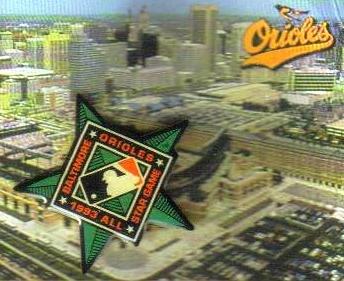 Star Pin All Game (1993 Major League Baseball All-Star Game Souvenir Pin - Game Played at Camden Yards)