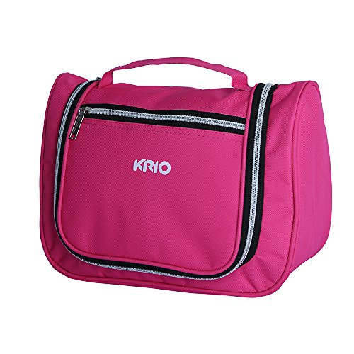 KRIO Designs PINK Travel Makeup Cosmetic Toiletry Bag