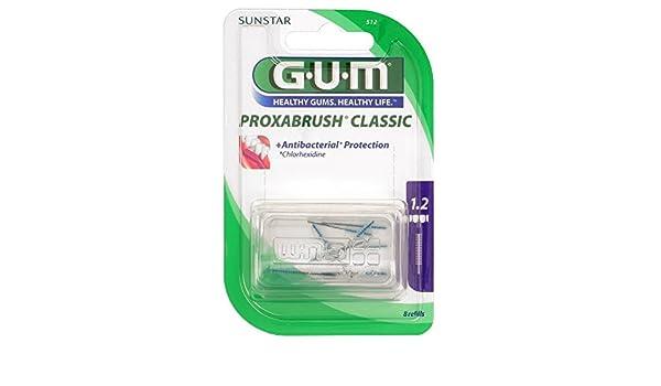 Gum proxab Rush para cepillos Vela 8 ST Cepillo de dientes: Amazon.es: Salud y cuidado personal