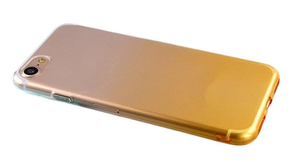 'daorier móvil para iPhone 74,7funda por niveles Color TPU transparente suave Teléfono Móvil resistente a los arañazos Ultra Fina Cover Case antichoque rígida azul
