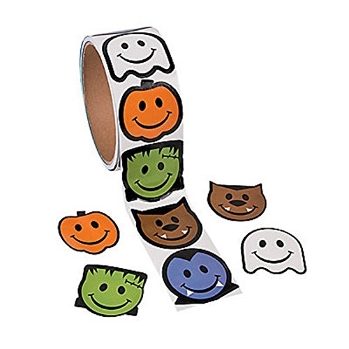 Smile Face Monster Stickers  Halloween/Party Favors