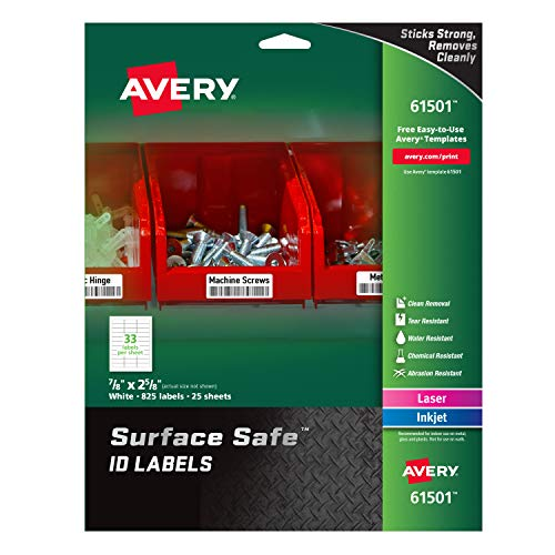 Barcode Label Template - Avery Durable Labels Label, 7/8