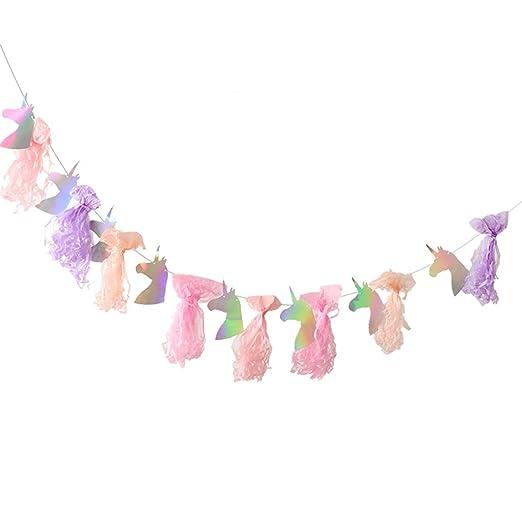 B Blesiya Borla De Unicornio Iridiscente Feliz Cumpleaños ...