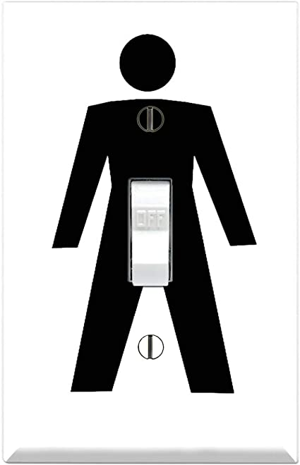 DIRTY STICK MAN TURN ME ON FUNNY Cover SINGLE Light Switch Plate