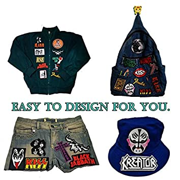 Band N Blue Patch Heavy Metal Music Dance Song Punk Embroidered Sew Iron On Patches Badge Bags Hat Jeans Shoes T-Shirt Applique