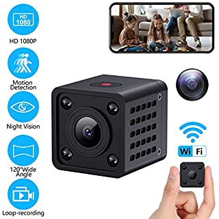 1080P WiFi Spy Camera Wireless Hiddenen Camera Mini Home Security Camera with Motion Detection Night Vision Video Recording for Android and iPhone Control