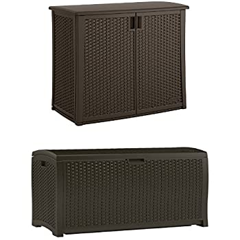 Amazon Com Suncast Elements Outdoor 40 Inch Wide Cabinet