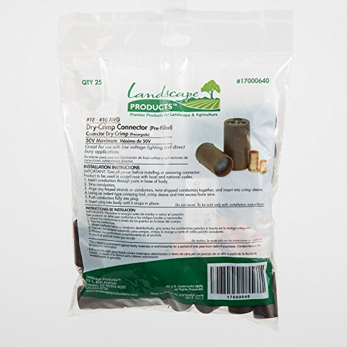 LANDSCAPE PRODUCTS PREMIER PRODUCTS FOR LANDSCAPE & AGRICULTURE DS-400 Dri-Splice Wire Pre-Filled Connectors - Bag of 25