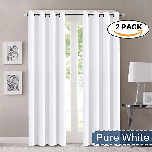 white room darkening solid elegant winow drapes thermal insulated grommet top 52 ebay. Black Bedroom Furniture Sets. Home Design Ideas