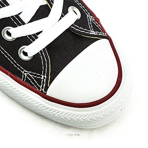 Lux 37 Chuck Noir Baskets CT Mid Femme 5 EU Taylor Basses Blanc Converse 001 Black Canvas ctv1BBR