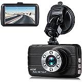 "Dash Cam,EVASA 3.0"" 1080P 150° Wide Angle Metal Shell Car On Dash Video with Night Vision,G-Sensor,WDR,Loop Recording Dashboard Camera Recorder (Black1)"