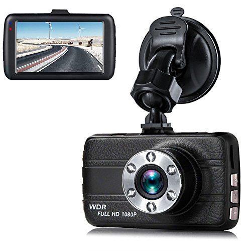 Dash Cam,EVASA 3.0″ 1080P 150° Wide Angle Metal Shell Car On Dash Video with Night Vision,G-Sensor,WDR,Loop Recording Dashboard Camera Recorder
