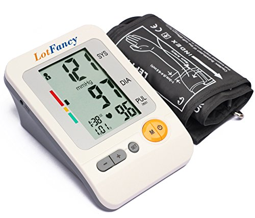 LotFancy Blood Pressure Monitor Machine with Large Arm BP Cuff & Irregular Heartbeat Detector, FDA Approved, 4-User Mode (Adult Large Cuff 11.8-16.5