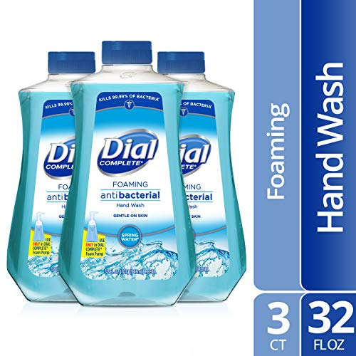 (Dial Complete Antibacterial Foaming Hand Soap Refill, 32 Fluid oz (Pack of 3))