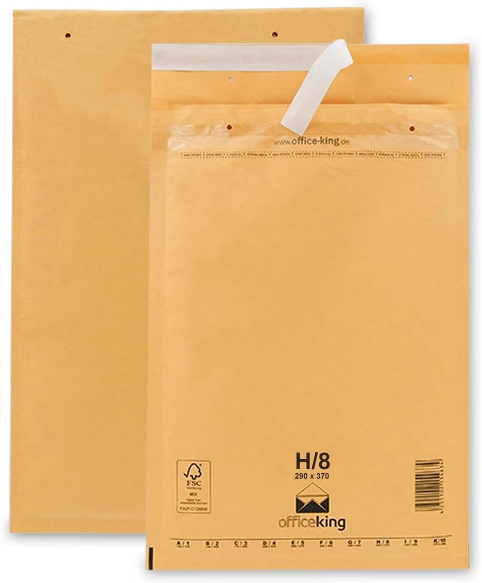 Braun 100 Luftpolstertaschen Versandtaschen Luftpolsterumschl/äge H8 290 x 370mm