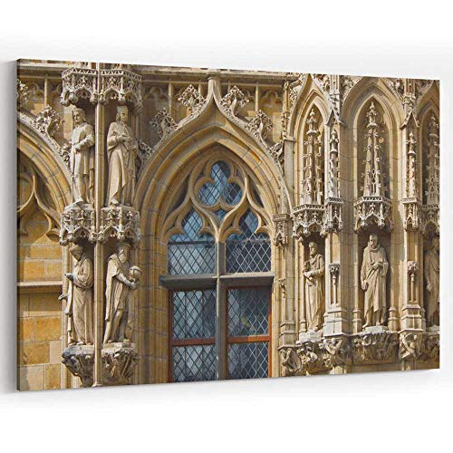Elements Exterior of City Hall in Leuven Canvas Prints Wall Art for Modern Home Decor