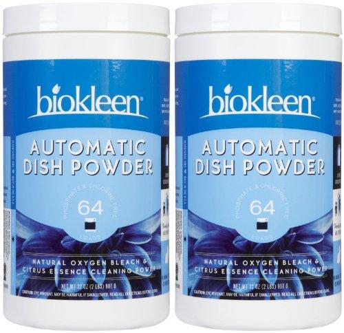 (Biokleen Automatic Dish Soap Powder, Citrus, 32 oz-2 pack)