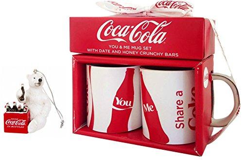 coca-cola-you-me-mug-holiday-and-vintage-polar-bear-with-cooler-hanging-ornament-gift-set-4-pc