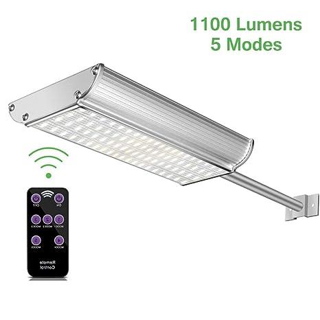 Lacyie Pared Lámparas Solares Farola Jardín con Sensor de Movimiento y mando a distancia,70LEDs