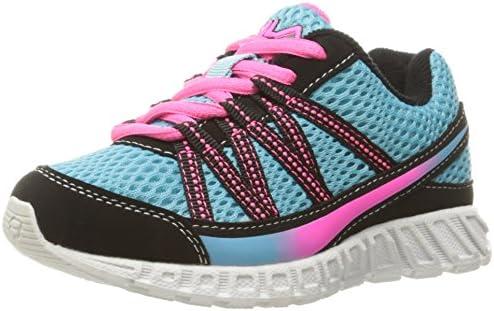c567774287111 Fila Girls' Flicker Skate Shoe, Bluefish/Black/Knockout Pink, 12.5 M ...