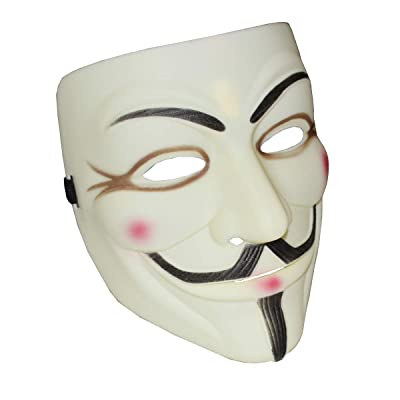 Halloween Masks V for Vendetta Mask, Anonymous/Guy Fawkes for 2020 Halloween Costume White (Yellow): Clothing