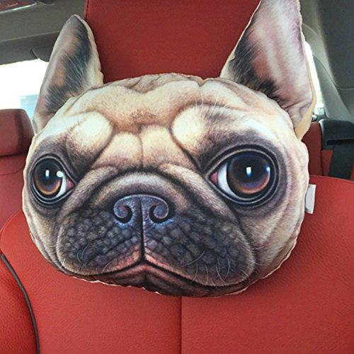 NEW Funny 3D Dog Face Cushion Sofa Plush Stuffed Pillow Home Car Seat Decor(shrapei) -