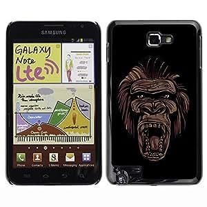 YOYO Slim PC / Aluminium Case Cover Armor Shell Portection //Cool Gorilla Monkey Face Graffiti Street Art- Ape Apes //Samsung Note