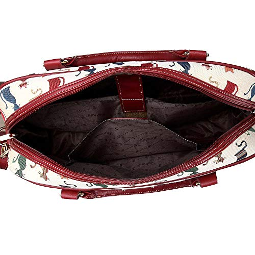 417f4fdbc0c7 Signare Tapestry White and Red Computer Laptop Notebook Bag 15.6 inch in  Cheeky Cat (CPU-CHEKY)