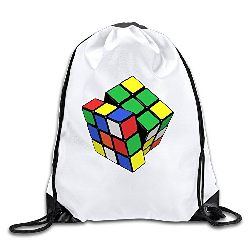 Price comparison product image Rubix Cube I Can Sovle It 100% Polyester Fiber Drawstring Bag One Size