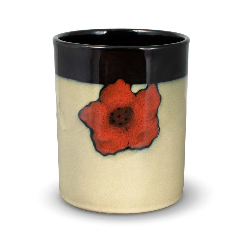 Pfaltzgraff Painted Poppies Utensil Crock