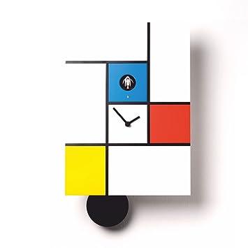 Diamantini & Domeniconi Wall Clock Mondrian White/Multicoloured ...