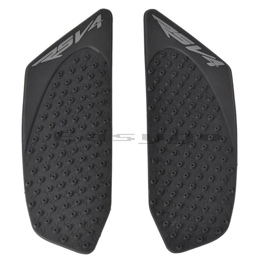 Motorcycle Black Gas Tank Pad Traction Side Pads Gas Fuel Knee Grip Decal Protector For Aprilia RSV4 2010-2017
