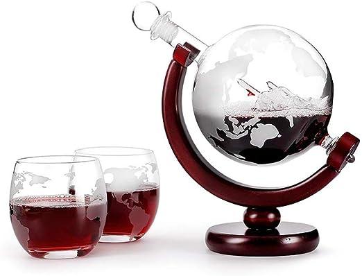 Purificador de agua de whisky, Grabado del mundo, 800 ml ...