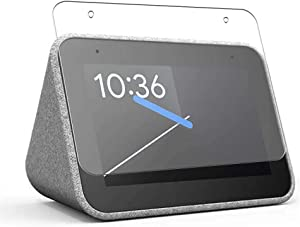Puccy 4 Pack Anti Blue Light Screen Protector Film, compatible with Lenovo Google Assistant Equipped Alarm Clock Smart Clock TPU Guard ( Not Tempered Glass Protectors )