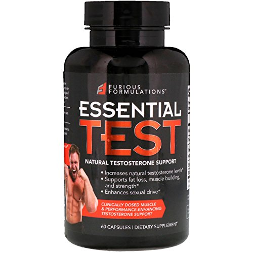 Cheap FURIOUS FORMULATIONS Essential Test Natural Testosterone Support 60 Capsules
