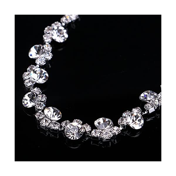 UDORA Crystal Necklace Earrings Jewelry Sets for Bridal Wedding Party
