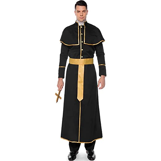 CAGYMJ Cosplay Mujer Hombre Party Ropa,Pareja Monja Sacerdote Bata ...