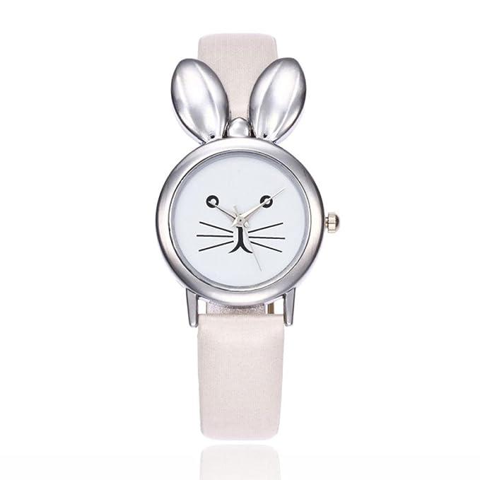 jaminy 2017 nueva para mujer diseño de relojes, relojes, mujer orejas de conejo tiempo