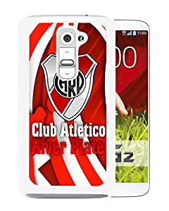 Beautiful And Fashional Designed Cover Case For LG G2 With River Plate White Phone Case 1