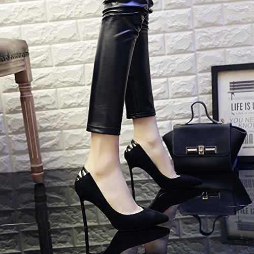 Travail 37 5 UK Chaussures Partie Black Chaussures Mode 4 Sexy Princesse EU Femme Noir De Talons Haute Discothèque Mariage Cour 9cm qxwnRXgTU