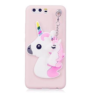 Funda Huawei P10 unicornio, Huawei P10 Carcasa Silicona Gel MUTOUREN Case Ultra Delgado TPU Goma Flexible Funda Huawei P10