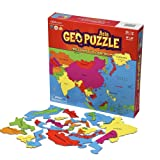 GeoToys - GeoPuzzle Asia - Educational Kid Toys for Boys and Girls, 50 Piece Geography Jigsaw Puzzle, Jumbo Size Kids Puzzle - Ages 4 and up