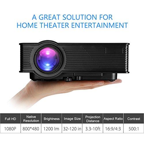 Hd 1080p Overhead Portable Mini Led Lcd Projector Pc Av Tv: Victsing LCD Video Projector Mini Portable HD 1080P LED